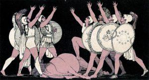 Stories from the Greek tragedians by Church, Alfred John, 1829-1912; Seeley, Jackson, and Halliday. pbl; Unwin Brothers. prt; Gresham Press. prt; Flaxman, John, 1755-1826